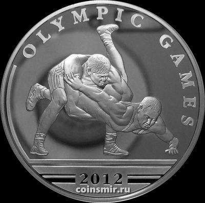 100 тенге 2010 Казахстан. Олимпиада 2012 в Лондоне. Вольная борьба.