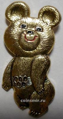 Значок Олимпийский мишка. Олимпиада 1980 в Москве.