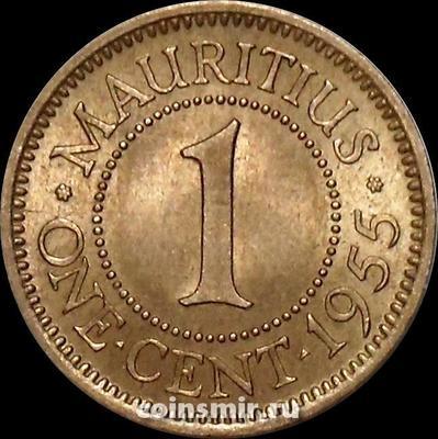 1 цент 1955 Маврикий.
