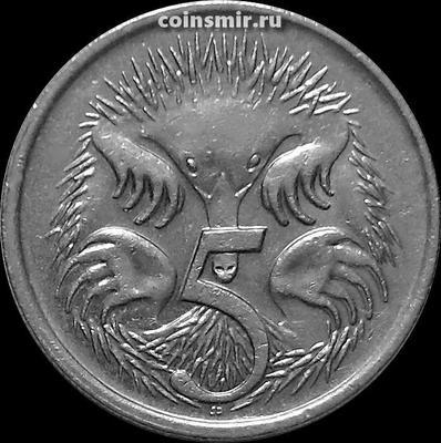5 центов 1995 Австралия. Ехидна.