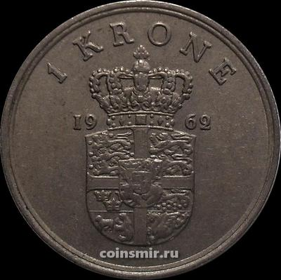 1 крона 1962 C;S Дания.