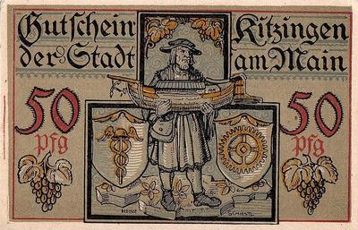 50 пфеннигов 1921 Германия г.Китцинген (Бавария). Нотгельд.