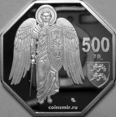 500 франков 2020 Мон-Сен-Мишель. Архангел Михаил.