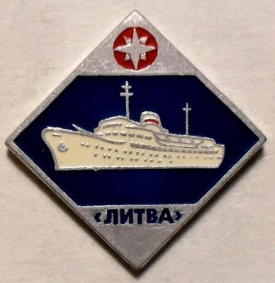 Значок Теплоход Литва.