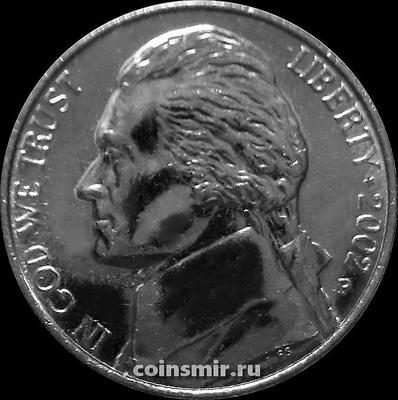 5 центов 2002 Р США. Томас Джефферсон.