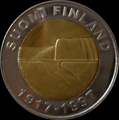 25 марок 1997 Финляндия. 80 лет независимости.