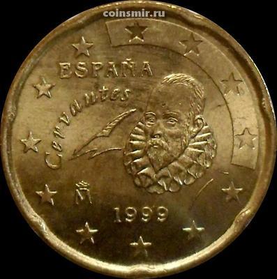 20 евроцентов 1999 Испания. UNC