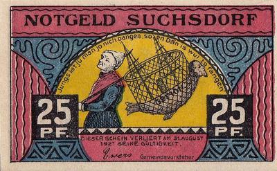 25 пфеннигов 1921 Германия г.Зухсдорф (Шлезвиг-Гольштейн). Нотгельд.