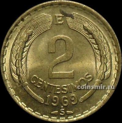 2 сентесимо 1969 Чили.