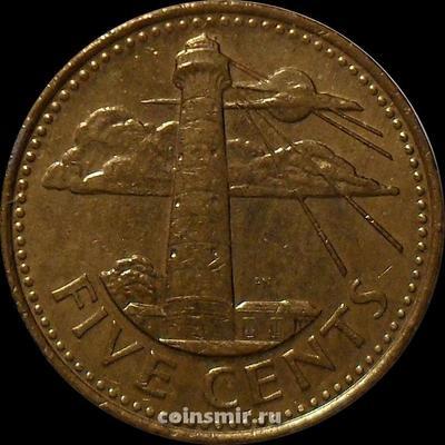 5 центов 2005 Барбадос. Маяк.