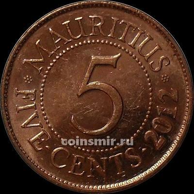 5 центов 2012 Маврикий.