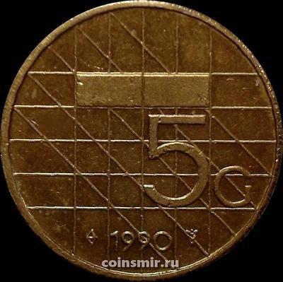 5 гульденов 1990 Нидерланды.