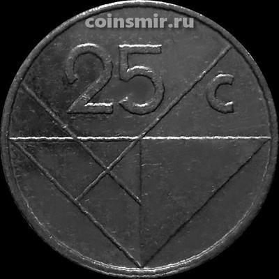 25 центов 1986 Аруба.