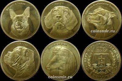 Набор из 5 монет 2019 Сомалиленд. Собаки.