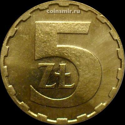 5 злотых 1986 Польша.
