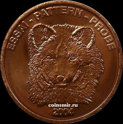 5 евроцентов 2004 Исландия. Песец. Европроба.