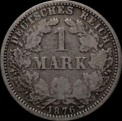 1 марка 1876 А Германия. Состояние на фото.