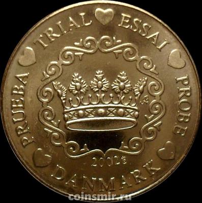20 евроцентов 2002 Дания. Европроба. Specimen.