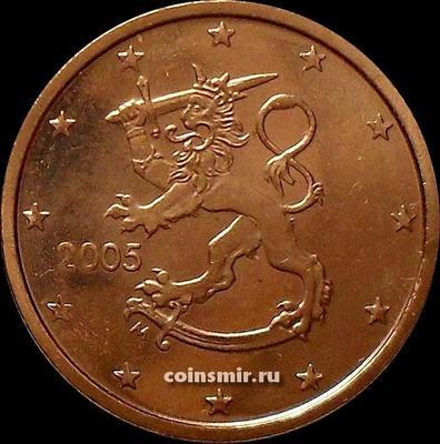 2 евроцента 2005 М Финляндия.