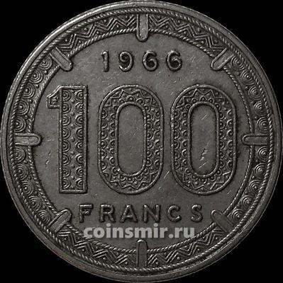 100 франков 1966 Экваториальная Африка.