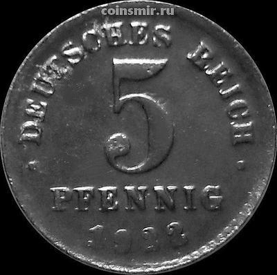 5 пфеннигов 1922 D Германия.