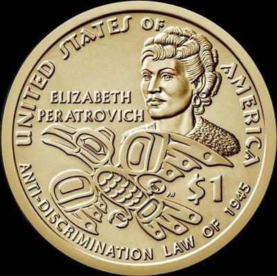1 доллар 2020 D США. Элизабет Ператрович.