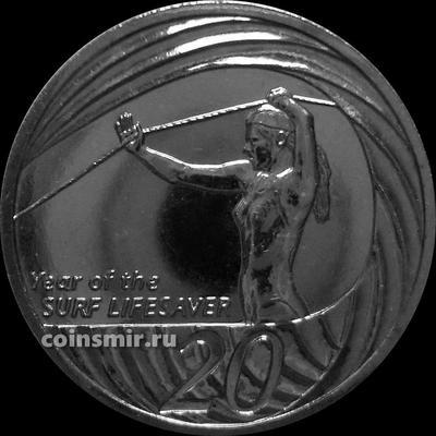 20 центов 2007 Австралия. Год спасателей серфингистов.