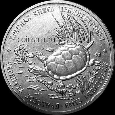 1 рубль 2018 Приднестровье. Болотная черепаха.