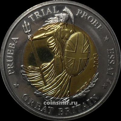 2 евро 2003 Великобритания. Европроба. Specimen.