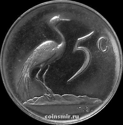 5 центов 1975 Южная Африка. UNC.