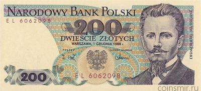 200 злотых 1988 Польша.