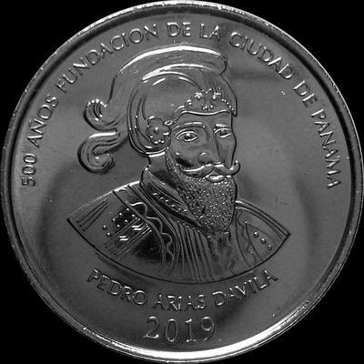 1/2 бальбоа 2019 Панама. Педро Ариас де Авила. 500 лет основанию Панамы.