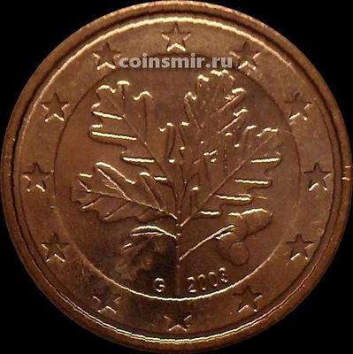 5 евроцентов 2003 G Германия. Листья дуба.