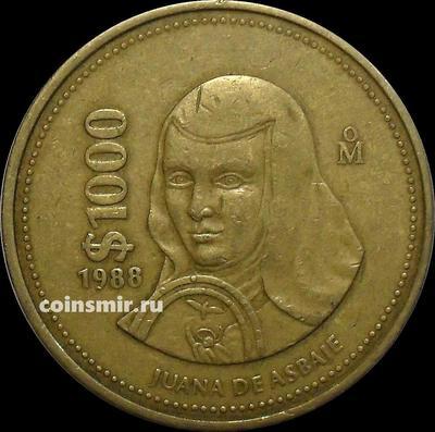 1000 песо 1988 Мексика.