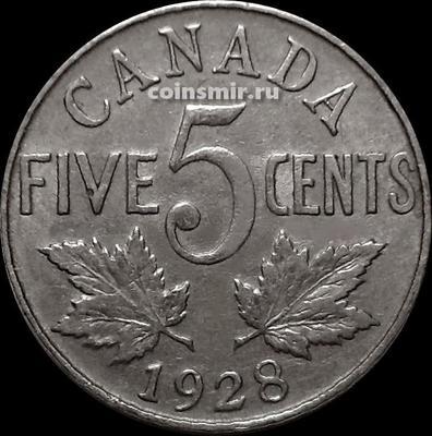 5 центов 1928 Канада.
