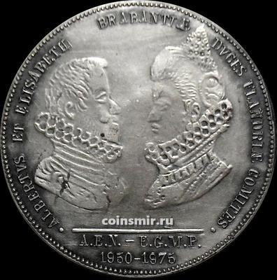 Жетон Король Бельгии Альберт I и королева Елизавета.