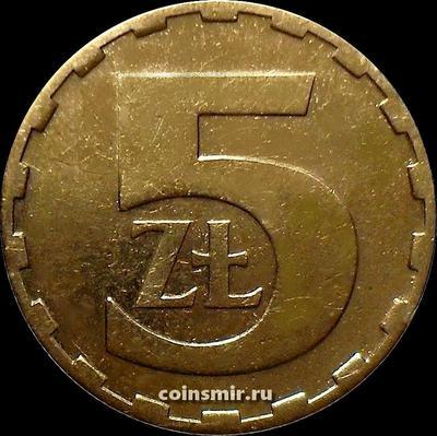 5 злотых 1980 Польша.