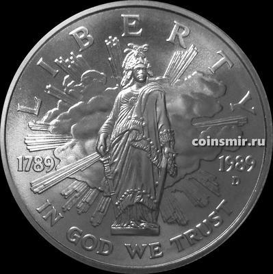 1 доллар 1989 D США. 200 лет Конгрессу.