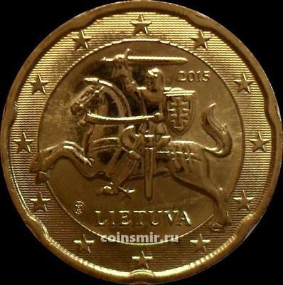 20 евроцентов 2015 Литва. Герб государства.