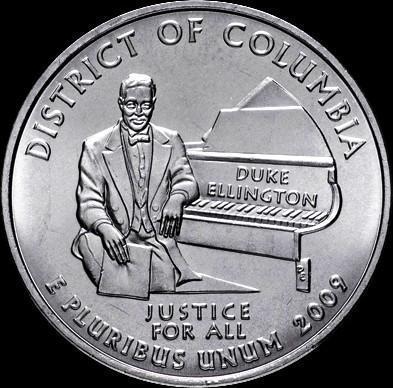 25 центов 2009 D США. Округ Колумбия.