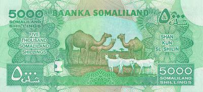 5000 шиллингов 2012 Сомалиленд.