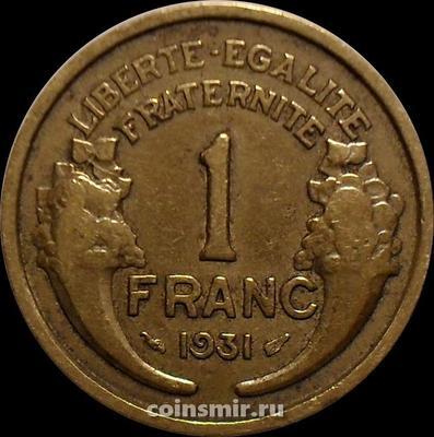 1 франк 1931 Франция.