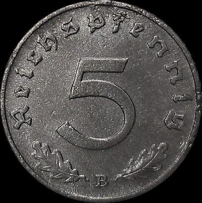 5 пфеннигов 1942 В Германия. Третий рейх.