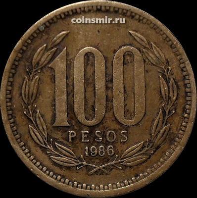 100 песо 1986 Чили.