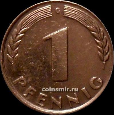 1 пфенниг 1948 G Германия ФРГ.