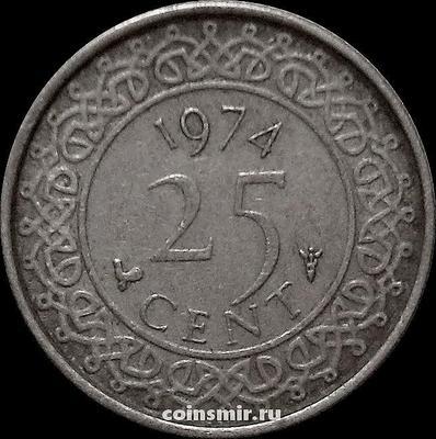 25 центов 1974 Суринам.