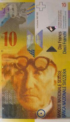 10 франков 2010 Швейцария.