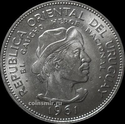 10 песо 1961 Уругвай. 150 лет революции против Испании.