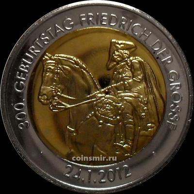 Жетон 300 лет со дня рождения короля Пруссии Фридриха II Великого. Германия 2012.