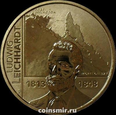 1 доллар 2013 Австралия. Людвиг Лейхгардт.